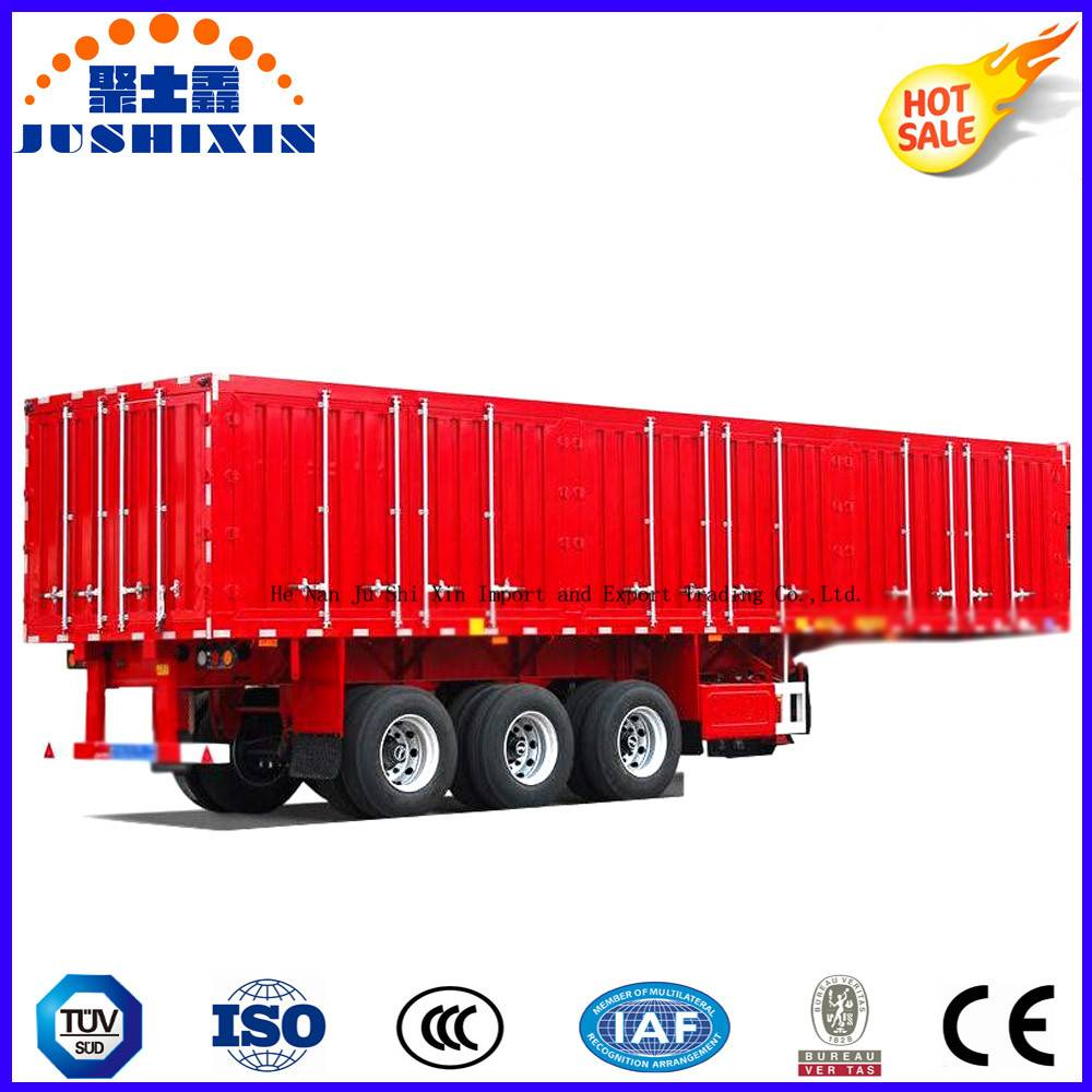 Factory Direct Price Enclosed Box Trailer Tandem Axle Coal Carrier Heavy Tractor Truck Cargo Utility