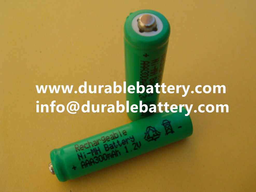 1.2v high top Nimh AAA 300mah rechargeable battery cell