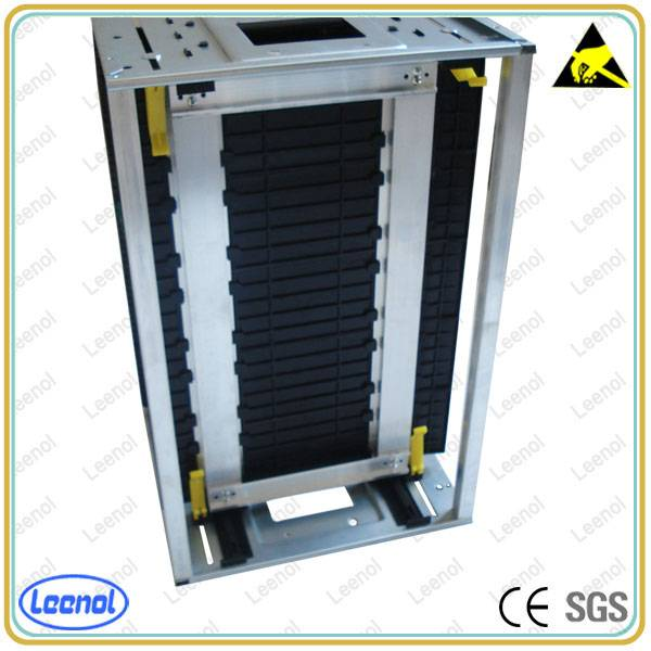 Plastic adjustable ESD PCB magazine rack