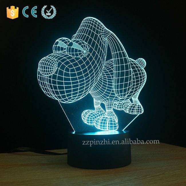 NL10 3D led color changing night light