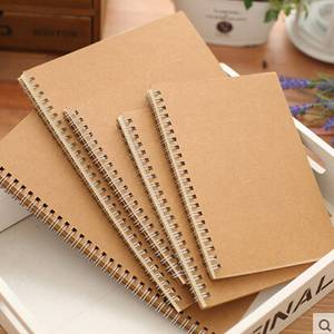 A4 Craft Paper Cover Sprial Sketch Notebook