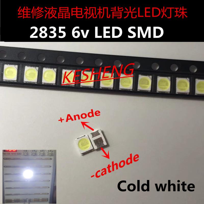 100pz/lotto Jufei 3528 SMD LED 2835 6 V bianco Freddo 96LM Per La TV LCD Retroilluminazione Applicaz