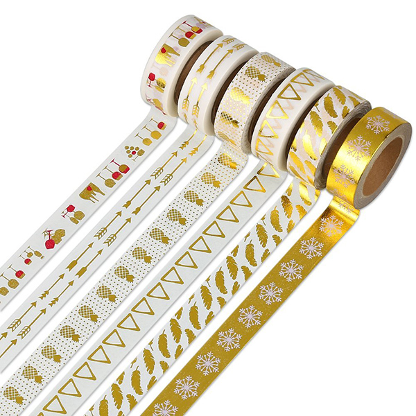 Custom made DIY decorative washi tape for scraching notebook