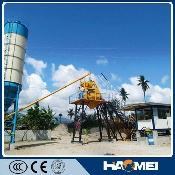 mini mobile concrete batching plant YHZS25