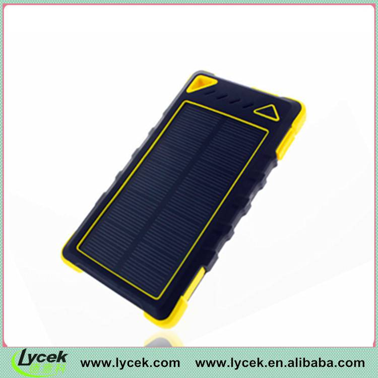 Rainproof 8000mAh Solar Portable Power For iPhone 6 plus | iPad Air 2