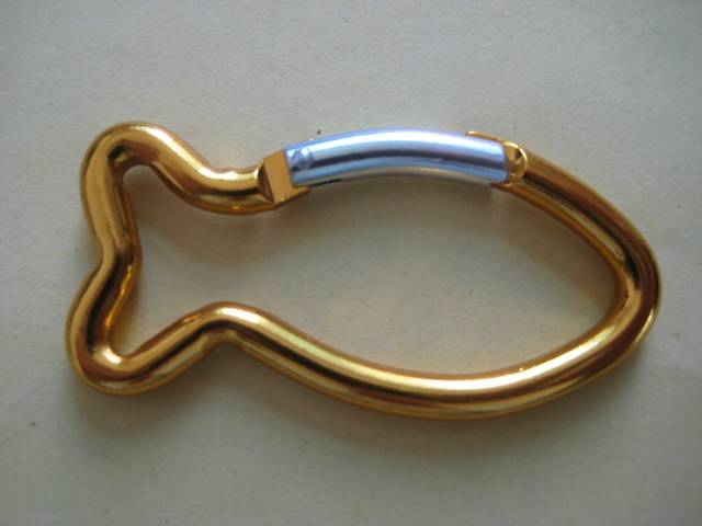 fish shape carabiner