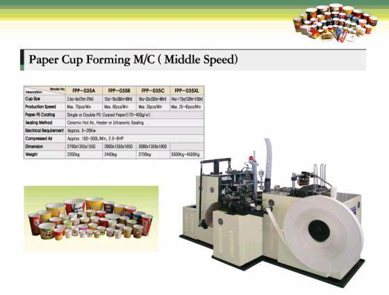 Korea Paper cup forming machine(Middle speed)