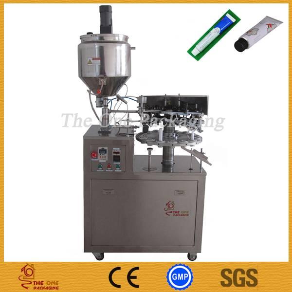Semi-Automatic Metal Tube Filling and Sealing Machine