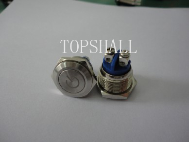 19mm off-(on)button/pushbutton/off-(on) metal button/metal pushbutton switch