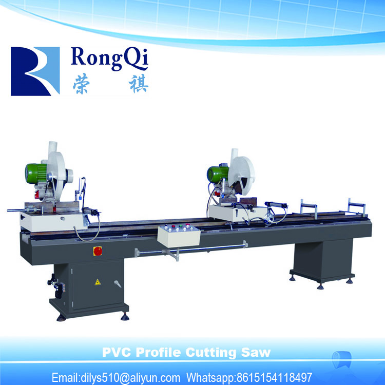 Double Head Precision Plastic Profile Window Frame Cutting Saw
