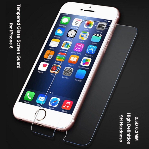 cell phone screen protector anti-fingerprint tempered glass screen protector for iphone 6s screen pr