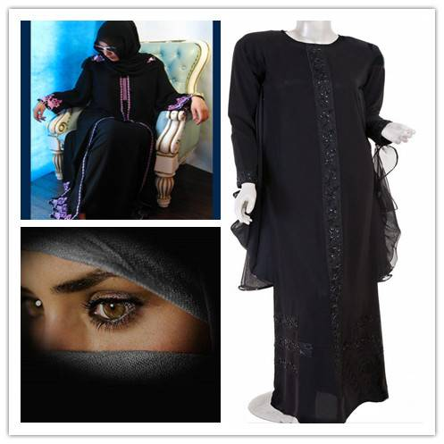 Abaya wool peach formal black fabric /jet black fabric