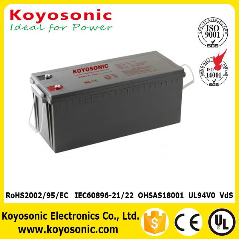 Top Quality 6V 180Ah Lead Acid Gel Battery Solar Battery Wind Power Battery