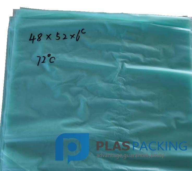 Low melting point plastic bags for rubber