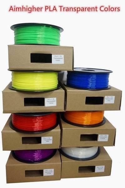 ABS PLA Filament Transparent color Wholesale factory price no bubble no stoppage 1.75mm/3 mm