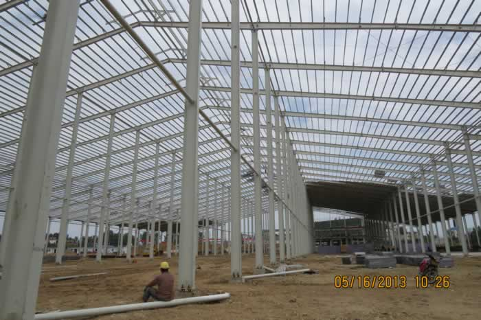 steel structure workshop located in africa-Nanyang xinxing steel structure
