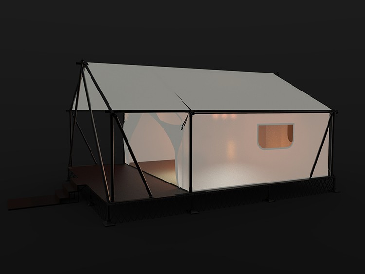High Commercial glamping canvas tent