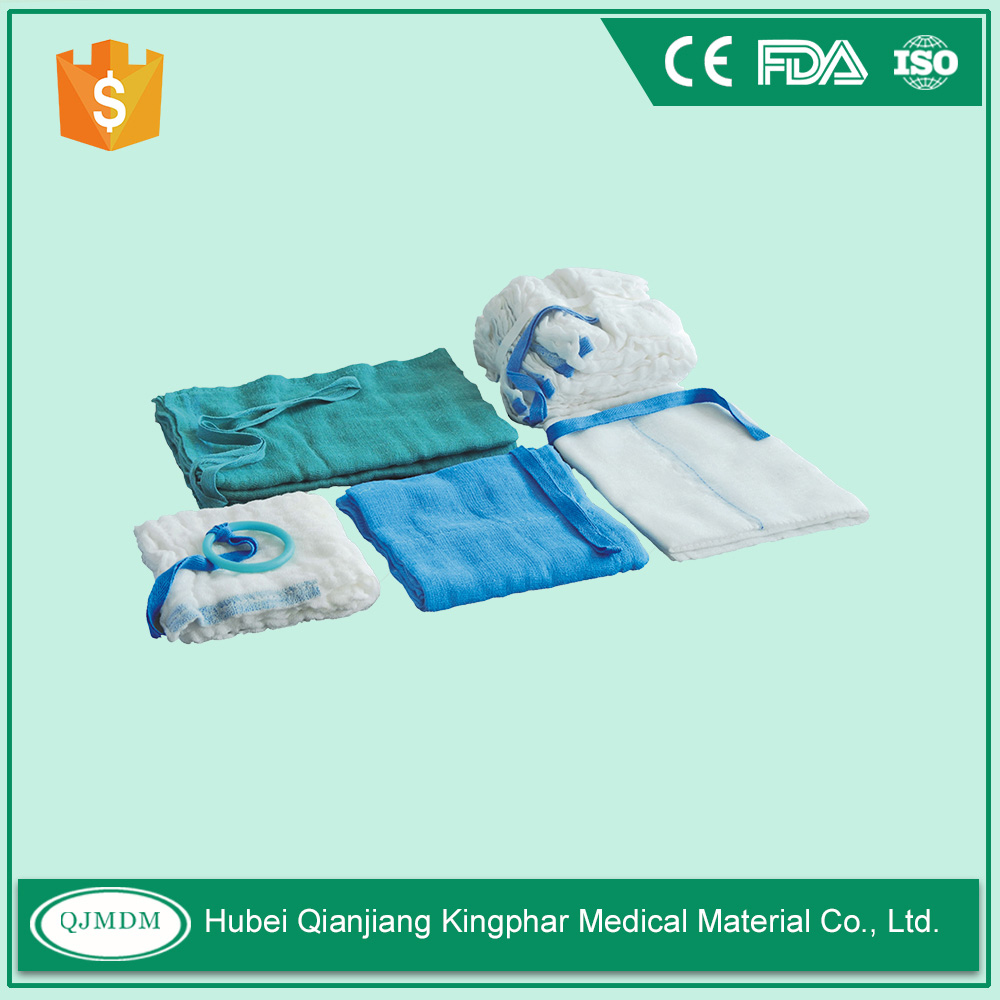 Non Sterile Packing,Blue Cotton Loop,Pre Washed Sterile Lap Sponges