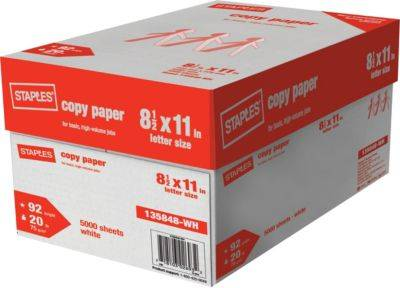 Staples copy paper Letter Size 8.5*11,75gsm and 80gsm