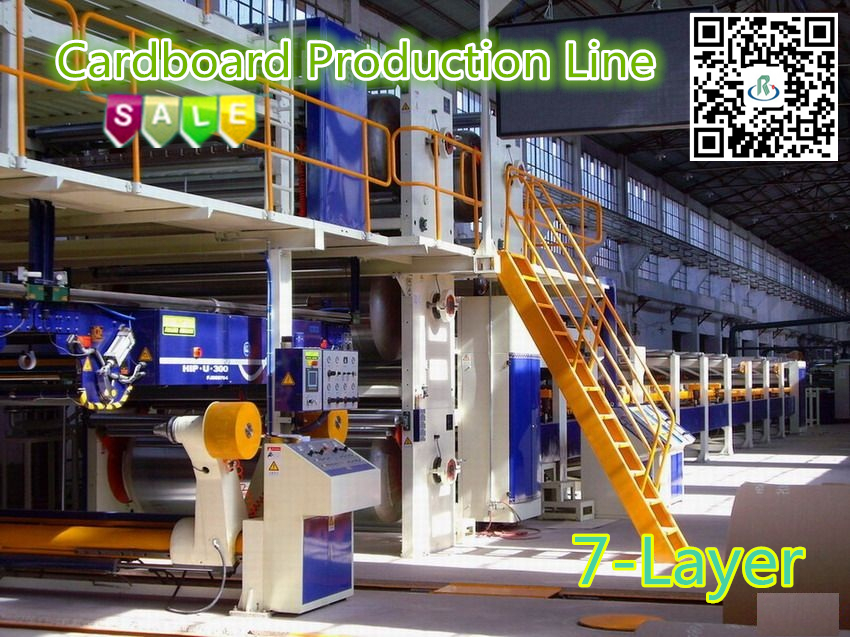 7-Ply Complete Corrugated Cardboard Making Machinery