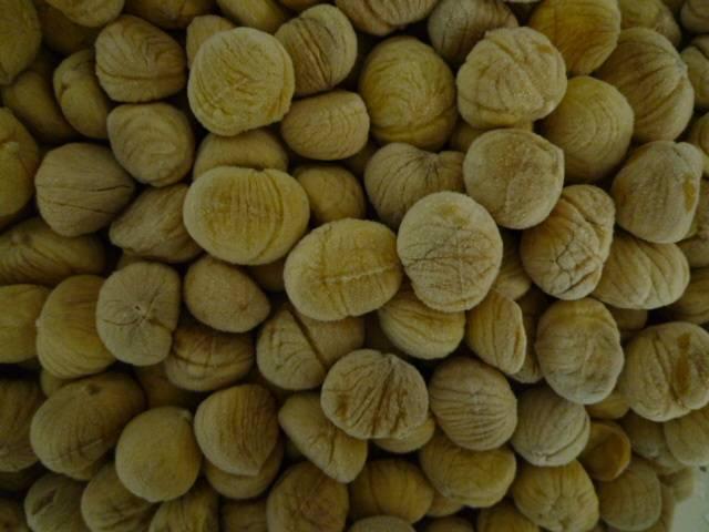 Deep frozen chestnuts