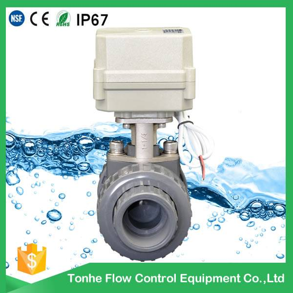 UPVC 10NM motorized ball valve electric actuator open or closed manufacturers in china