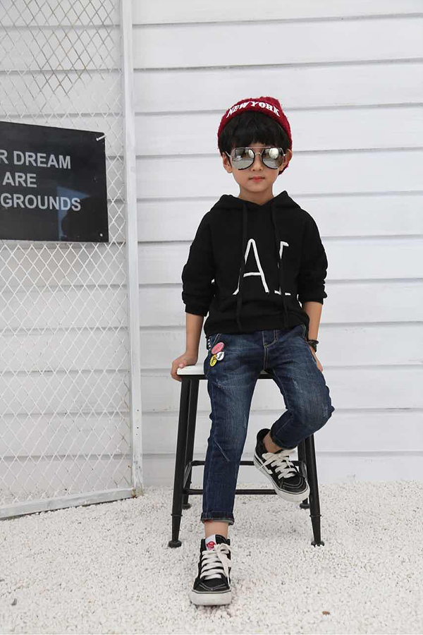 Skinny Jeans For Children Boys Ripped Trousers OEM