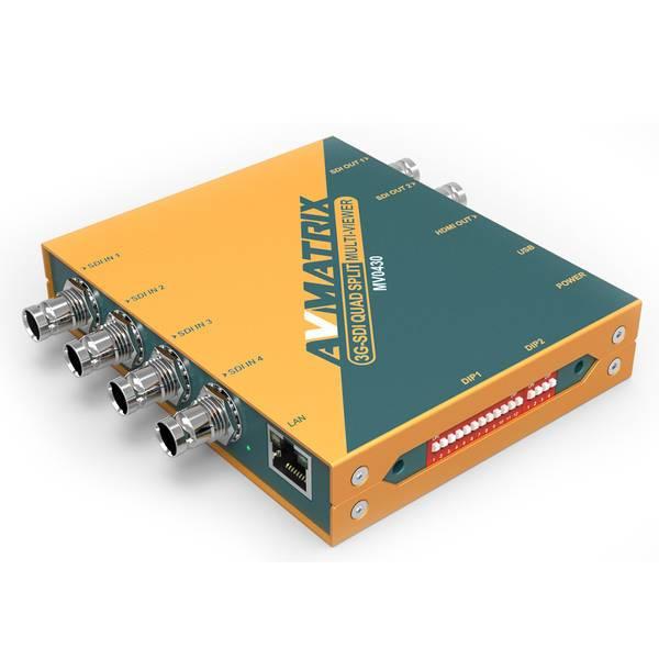 AVMATRIX Quad-split SDI Multi-viewer with SDI and HDMI Output