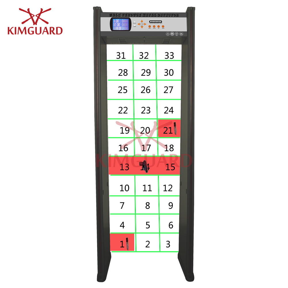 33zone Walk Through Metal Detector Door Frame Metal Detector for hardware factory body scanner