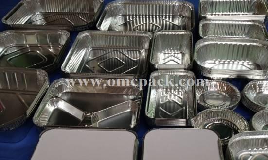 Disposable aluminum foil container foil roaster tray