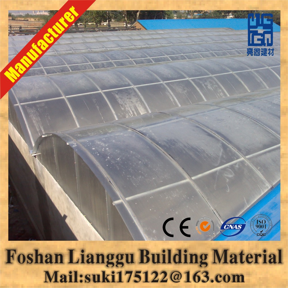 FRP fiberglass roofing sheet/panel/tile for steel structure chicken poultry house