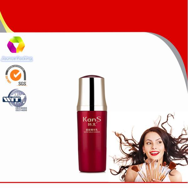 Hot Sale Coated Cosmetic Glass Bottle With UV Painting Cap
