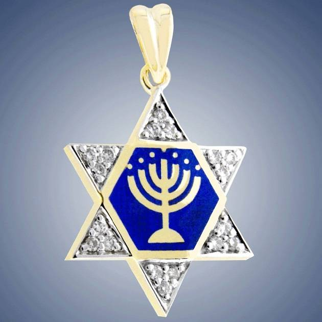 Jewish Jerusalem 925 sterling silver david star pendant