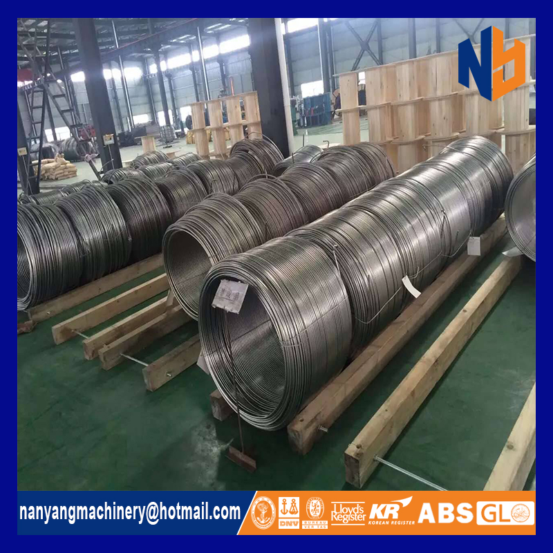 high pressure seamless 304 stainless steel coiled tubing