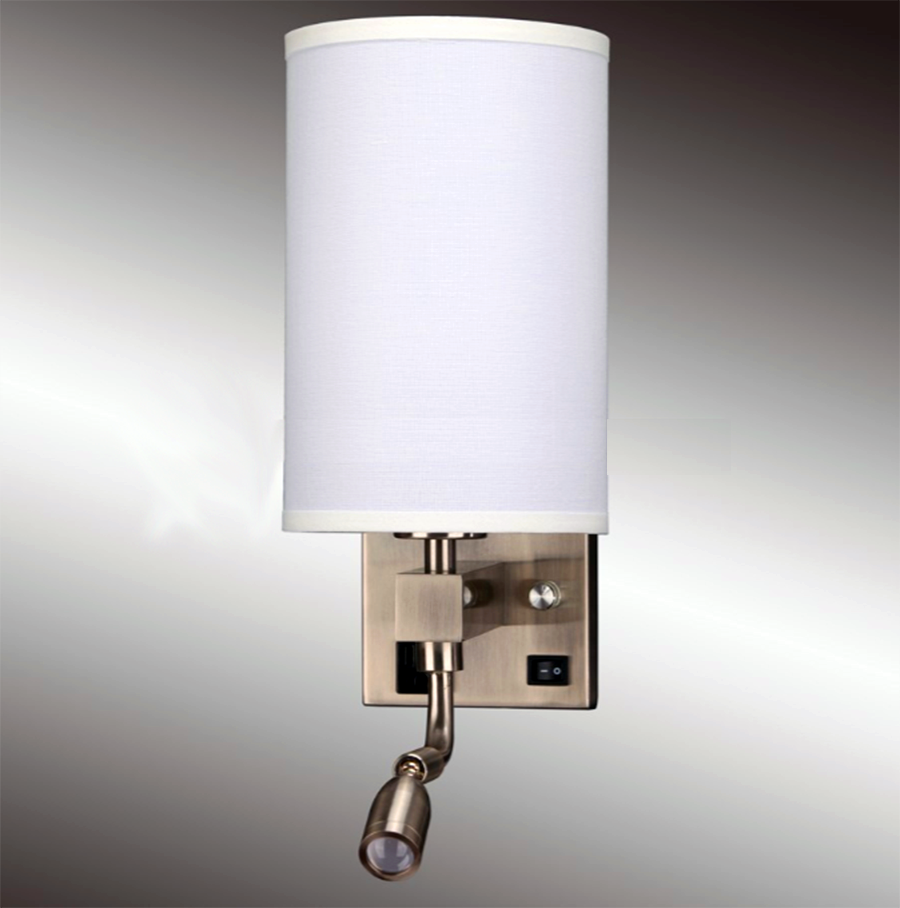 bedside wall lamp with outlets and usb ports