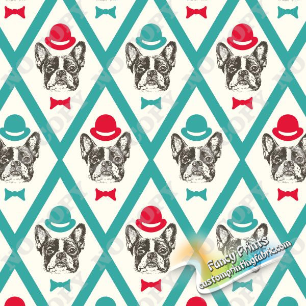 Cool dogs digital print for cotton lycra fabric