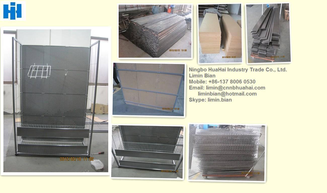 Metal and MDF freestanding display rack