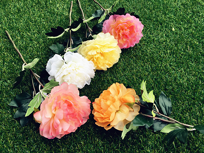 silk Peony multilayer artificial flower wedding hand flower home office garden decoration