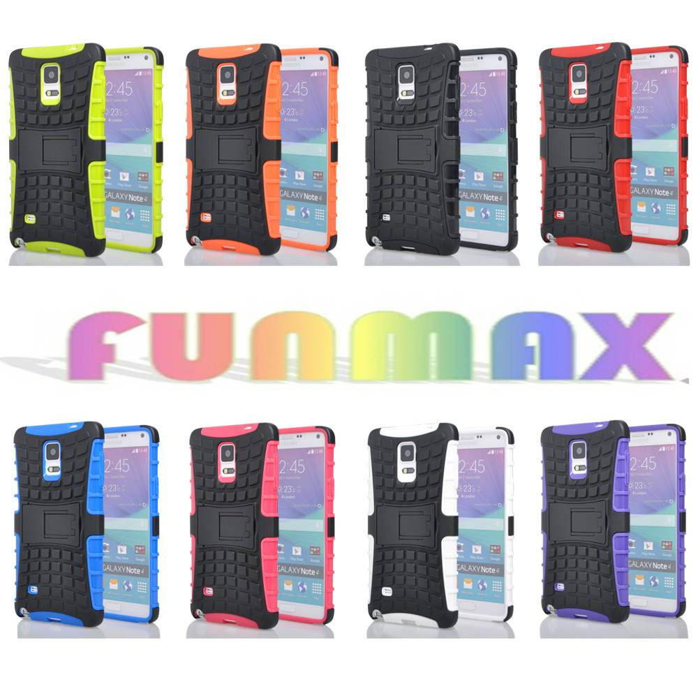 Tire Pattern 2-in-1 Robust Dual Layer Protective Phone Case Cover with Kickstand for Samsung Galaxy