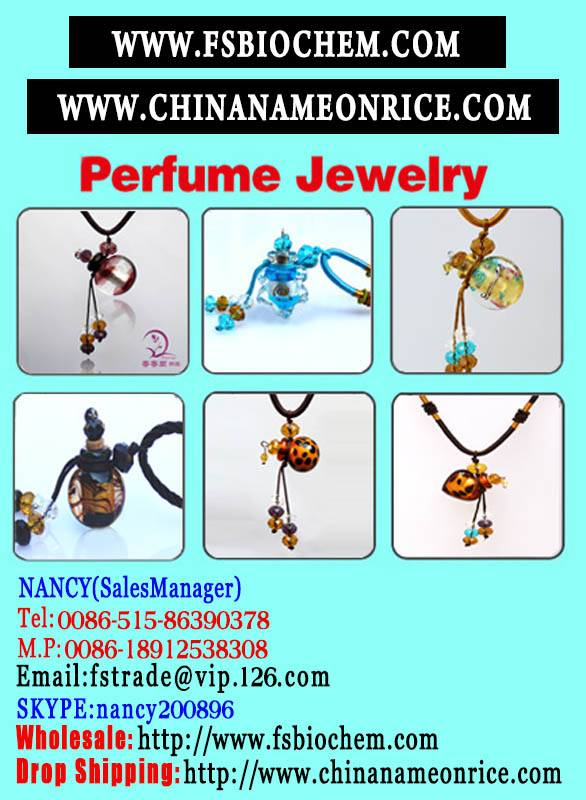 Murano glass Essential Oil Bottle Necklace,
