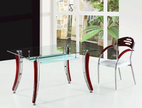 Fashion two-double dining table