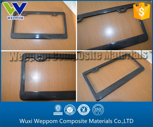 3K Plain Glossy Carbon Fiber License Plate Frame