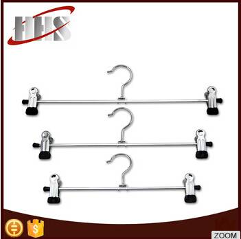 Adjustable PVC End Clips Metal Pant Hanger