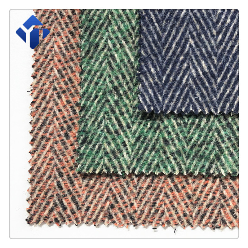 wholesale mills herringbone double sided woven wool suit fabric