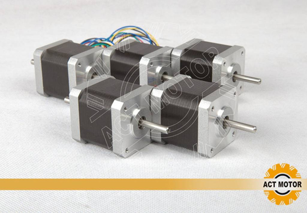 5PCS ACT Nema17 Stepper Motor 17HS5425B24 Dual Shaft