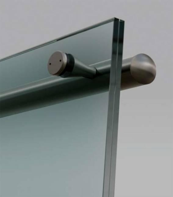 laminated glass door
