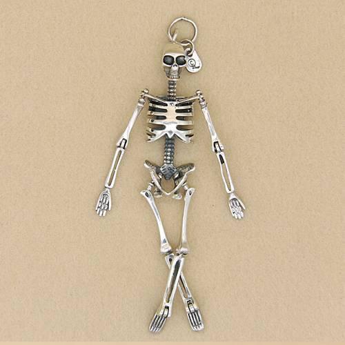 Sterling Silver Skeleton Pendant