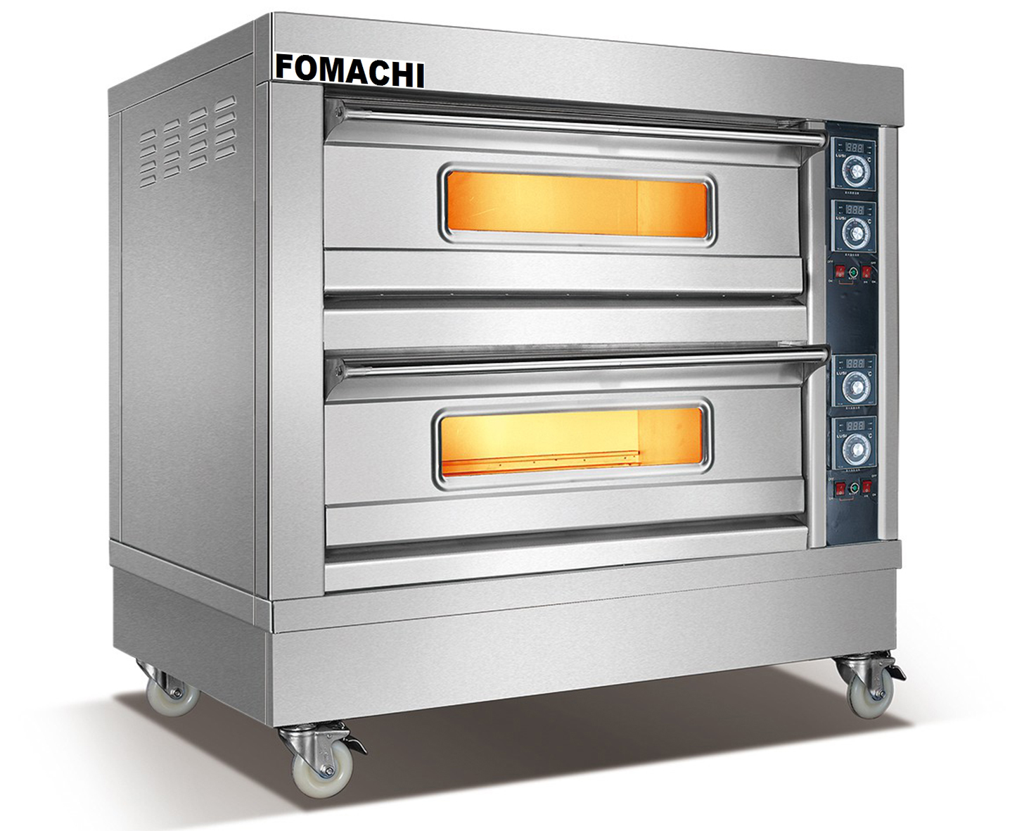 Electric Baking Oven 2 Deck 4 Trays Front S/S Electric Deck Oven FMX-O38B