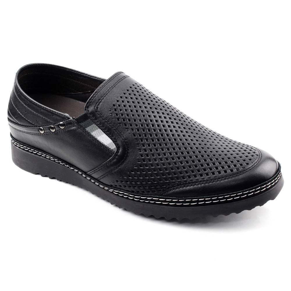 Black Ostrich's Paw Men Height Sandals