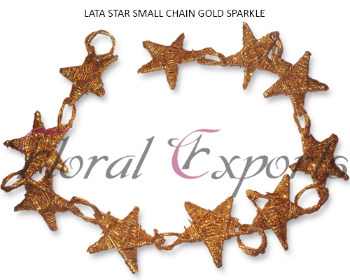 LATA STAR SMALL CHAIN GOLD SPARKLE